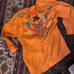 Oversized embroidered jacket
